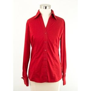 Worthington Red Stretch Button Up Shirt 4